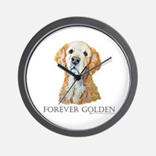 Golden Retreiver Dog Gifts Wall Clock