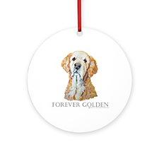 Golden Retreiver Dog Gifts Ornament (Round)