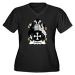 Pulford Family Crest Women's Plus Size V-Neck Dark