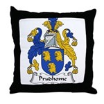 Prudhome Family Crest Throw Pillow