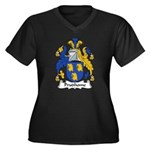 Prudhome Family Crest Women's Plus Size V-Neck Dar