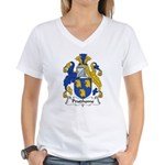 Prudhome Family Crest Women's V-Neck T-Shirt