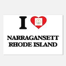 I love Narragansett Rhode Postcards (Package of 8)