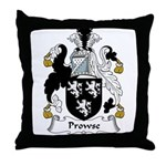 Prowse Family Crest Throw Pillow