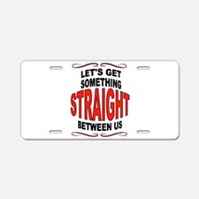 STRAIGHT Aluminum License Plate