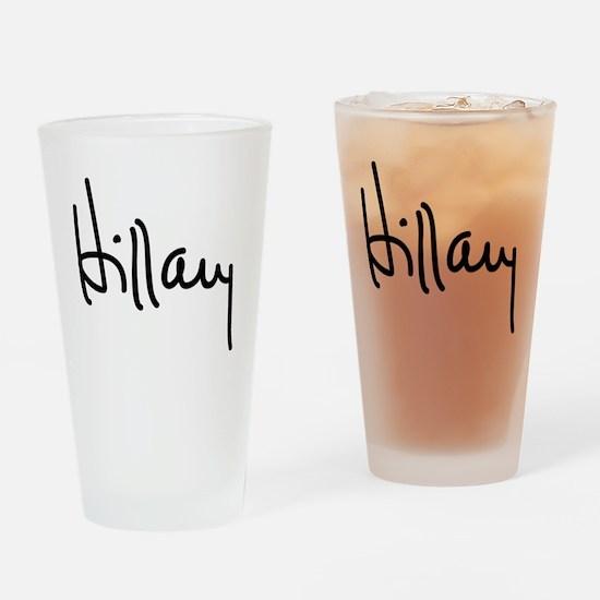 Hillary Clinton Signature Drinking Glass