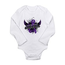Domestic Violence Awar Long Sleeve Infant Bodysuit