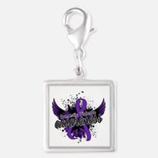 Domestic Violence Awareness 1 Silver Square Charm