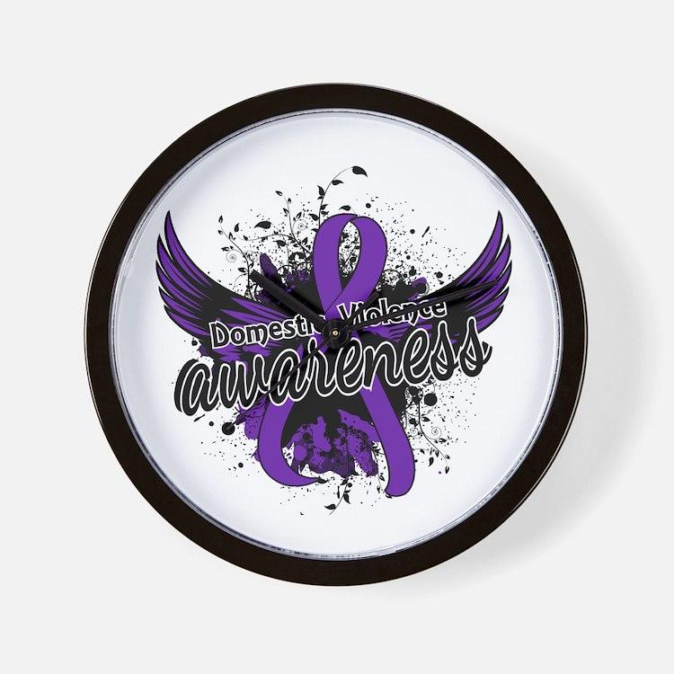 Domestic Violence Awareness 16 Wall Clock