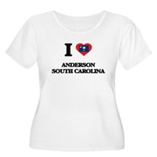 I love Anderson South Carolina Plus Size T-Shirt