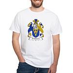 Pridham Family Crest White T-Shirt