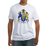 Pridham Family Crest   Fitted T-Shirt