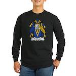 Pridham Family Crest Long Sleeve Dark T-Shirt