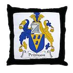Pridham Family Crest Throw Pillow