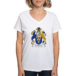 Pridham Family Crest   Women's V-Neck T-Shirt