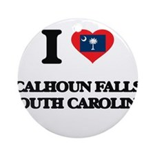 I love Calhoun Falls South Caroli Ornament (Round)