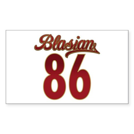 Blasian 86 Collection Rectangle Sticker