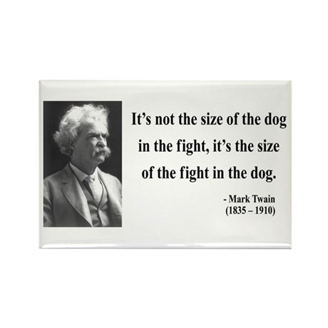 Mark Twain 2 Rectangle Magnet