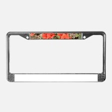Poppies growing on El Camino, License Plate Frame