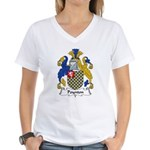 Poynton Family Crest Women's V-Neck T-Shirt
