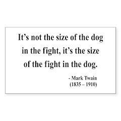 Mark Twain 2 Rectangle Decal