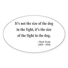 Mark Twain 2 Oval Decal