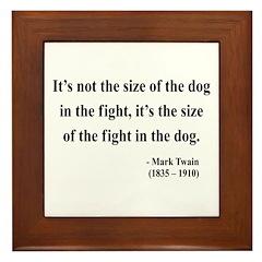 Mark Twain 2 Framed Tile