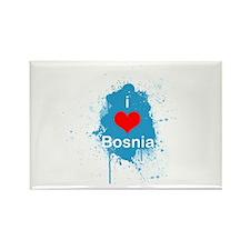 (R) I heart Bosnia Rectangle Magnet