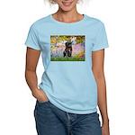 Garden / Black Pug Women's Light T-Shirt