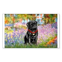 Garden / Black Pug Decal