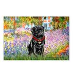 Garden / Black Pug Postcards (Package of 8)