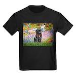 Garden / Black Pug Kids Dark T-Shirt