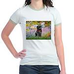 Garden / Black Pug Jr. Ringer T-Shirt