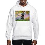 Garden / Black Pug Hooded Sweatshirt