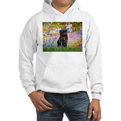 Garden / Black Pug Hoodie