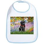 Garden / Black Pug Bib