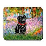 Garden / Black Pug Mousepad