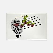 Wine Quartet Logo Rectangle Magnet