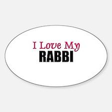 I Love My RABBI Oval Decal