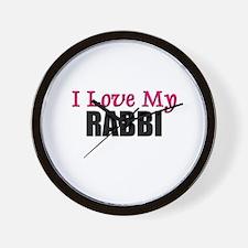 I Love My RABBI Wall Clock