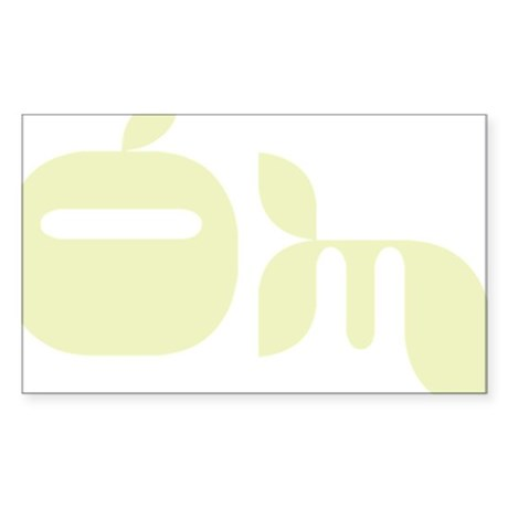 Yoga OM Rectangle Sticker