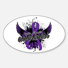 Cystic Fibrosis Awareness 16 Sticker (Oval)