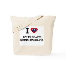 I love Folly Beach South Carolina Tote Bag