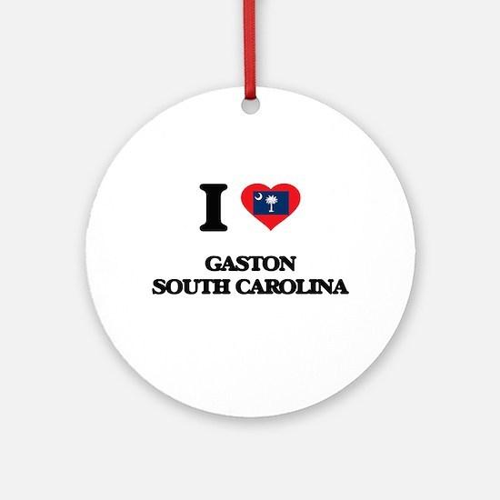 I love Gaston South Carolina Ornament (Round)