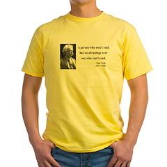 Mark Twain 3 Yellow T-Shirt