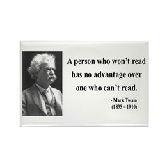 Mark Twain 3 Rectangle Magnet