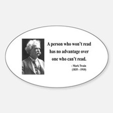 Mark Twain 3 Oval Decal