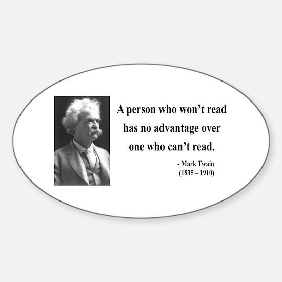 Mark Twain 3 Oval Decal