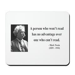 Mark Twain 3 Mousepad