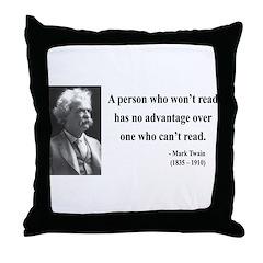 Mark Twain 3 Throw Pillow
